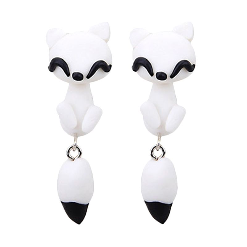 Fashionistaacc Clay Cute Fox KE50760 White Anting