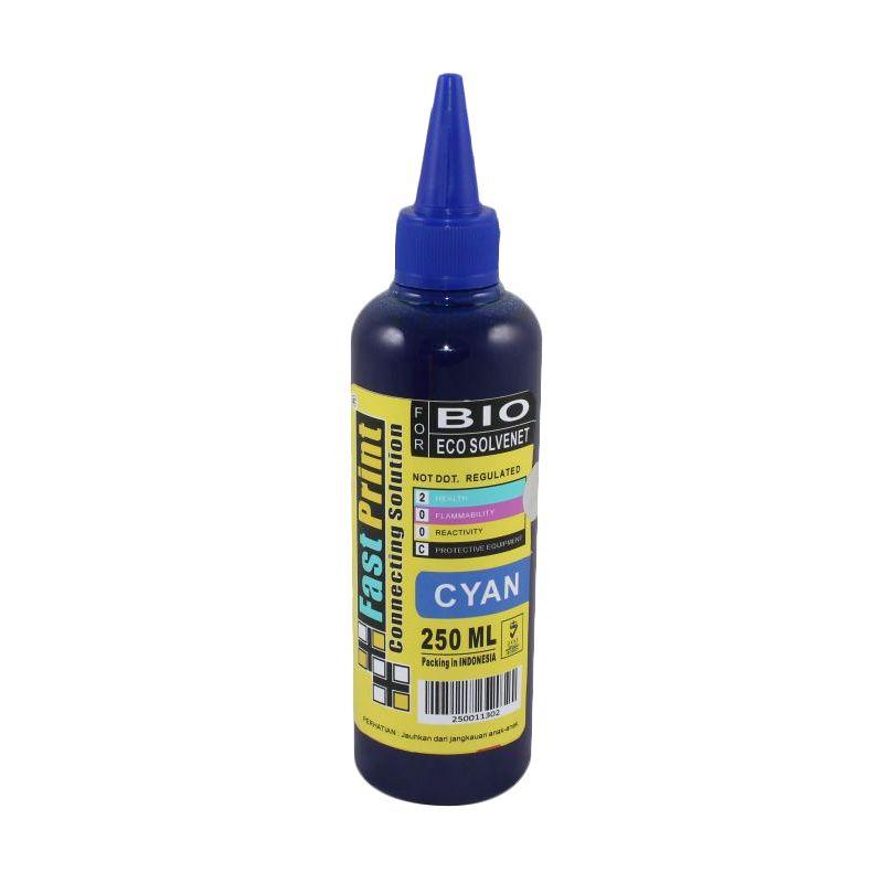 Fast Print Bio Eco Solvent Epson Cyan Tinta Printer [250 mL]