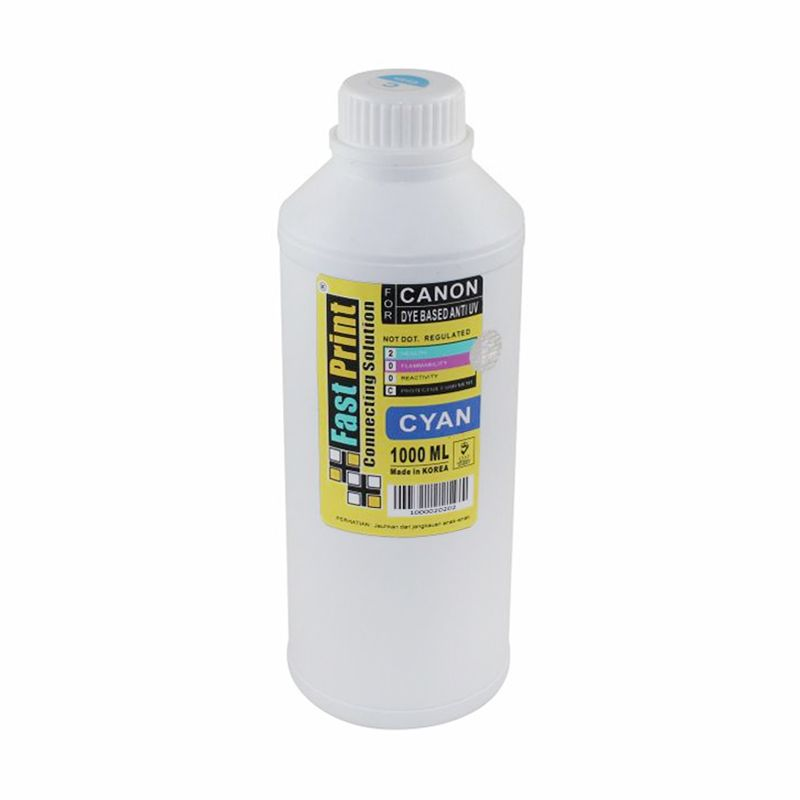 Fast Print Dye Based Anti UV Canon Cyan Tinta Printer [1000 mL]