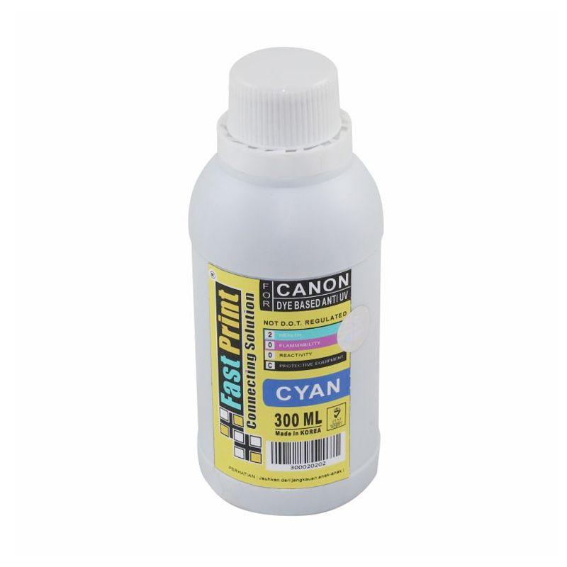 Fast Print Dye Based Anti UV Canon Cyan Tinta Printer [300 mL]