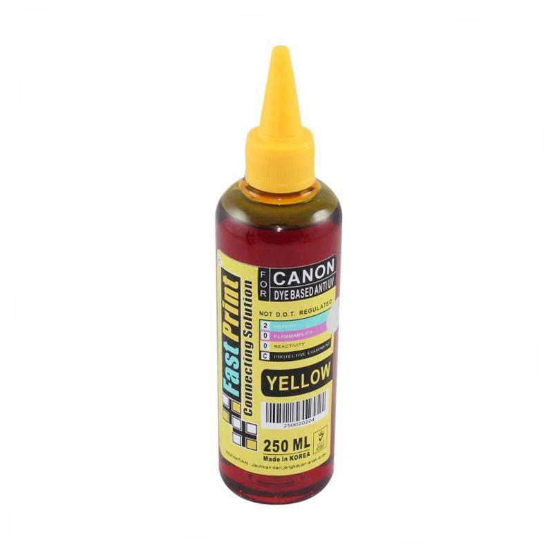Fast Print Dye Based Anti UV Canon Yellow Tinta Printer [250 mL]