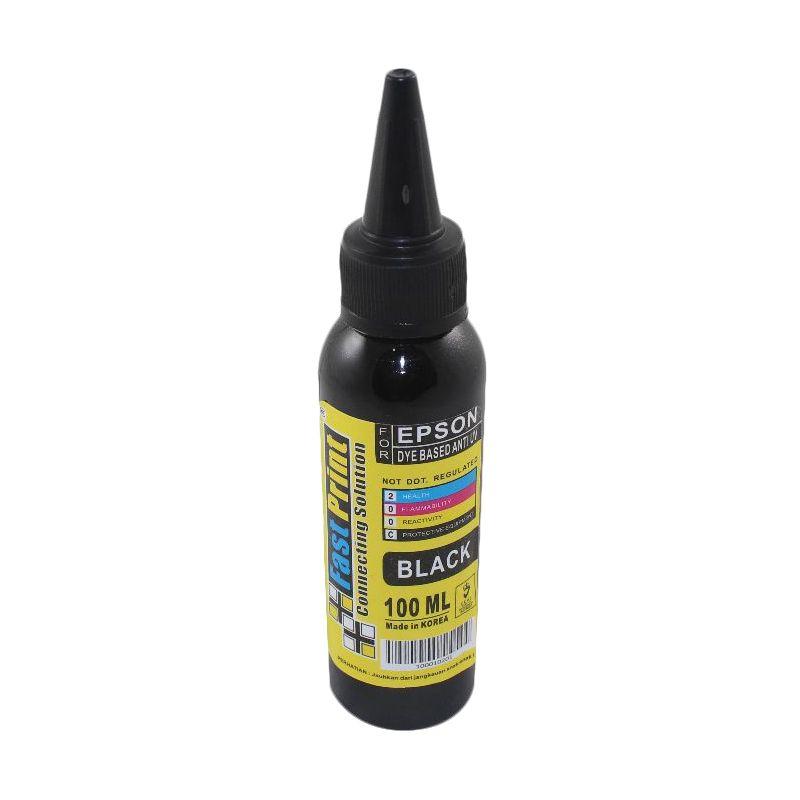 Fast Print Dye Based Anti UV Epson Black Tinta Printer [100 mL]