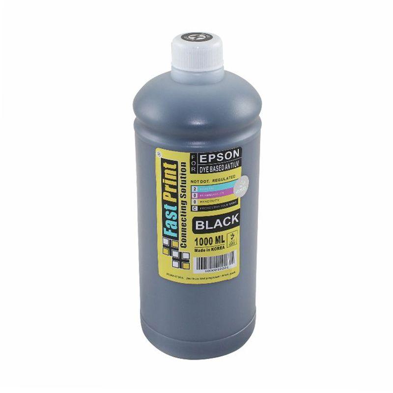 Fast Print Dye Based Anti UV Epson Black Tinta Printer [1000 mL]