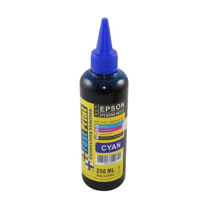 Fast Print Dye Based Anti UV Epson Cyan Tinta Printer [250 mL]