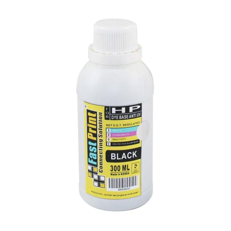 Fast Print Dye Based Anti UV HP Black Tinta Printer [300 mL]