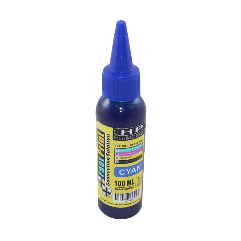 Fast Print Dye Based Anti UV HP Cyan Tinta Printer [100 mL]