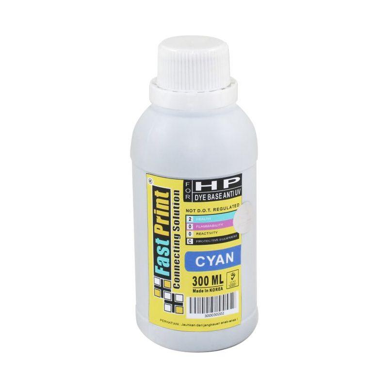 Fast Print Dye Based Anti UV HP Cyan Tinta Printer [300 mL]