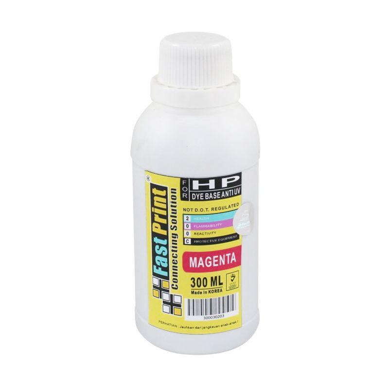 Fast Print Dye Based Anti UV HP Magenta Tinta Printer [300 mL]