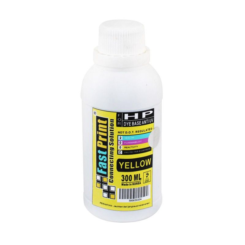 Fast Print Dye Based Anti UV HP Yellow Tinta Printer [300 mL]