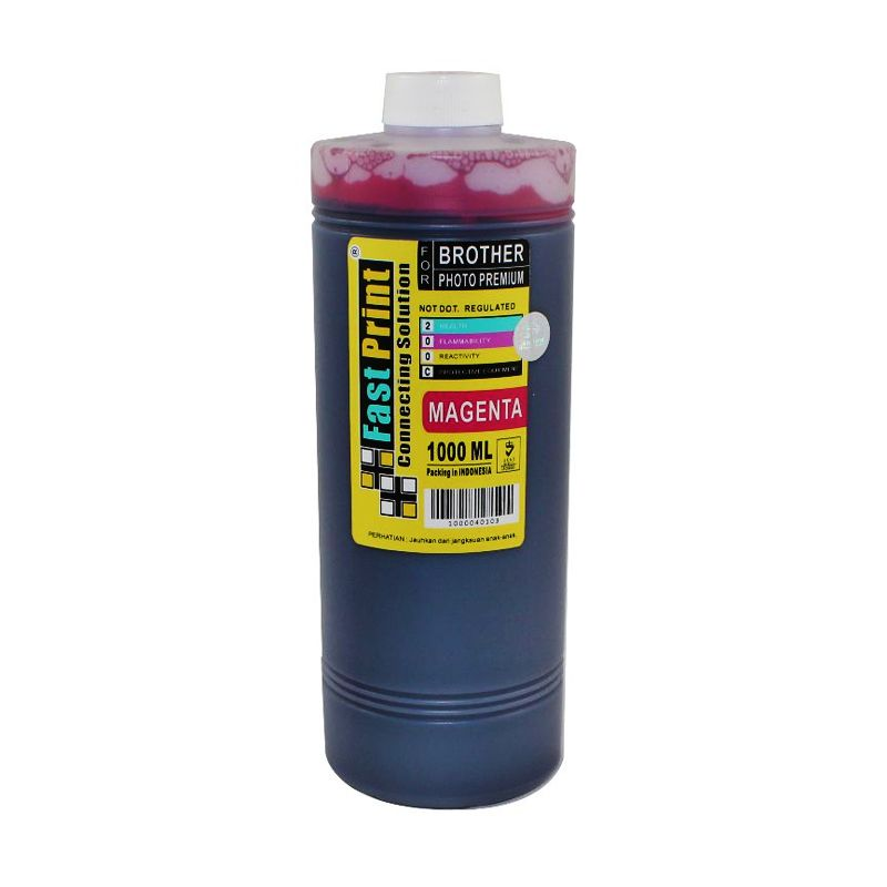 Fast Print Dye Based Photo Premium Brother Magenta Tinta Printer [1000 mL]