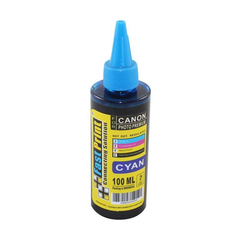 Fast Print Dye Based Photo Premium Canon Cyan Tinta Printer [100 mL]
