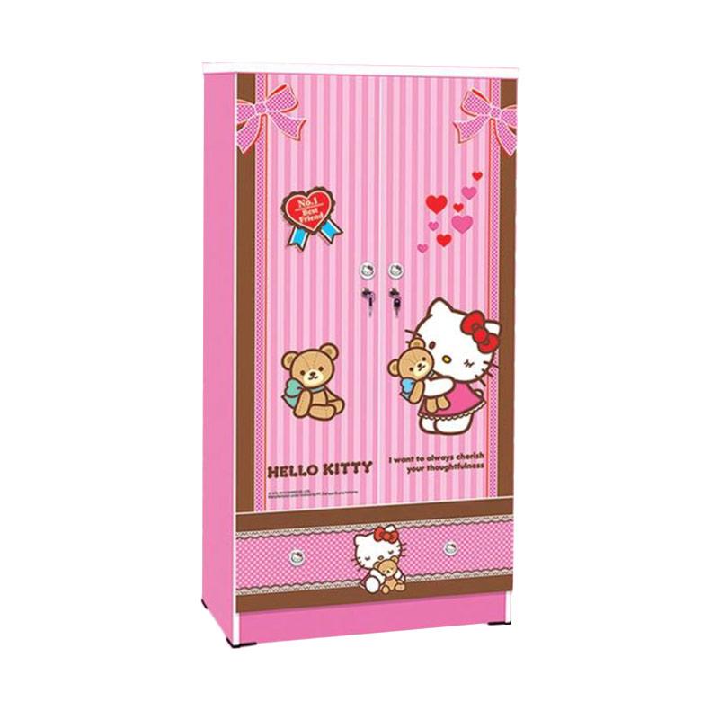 harga FCENTER 2 Pintu Hello Kitty Best Friend Lemari [Jawa Tengah DIY JATIM] Blibli.com