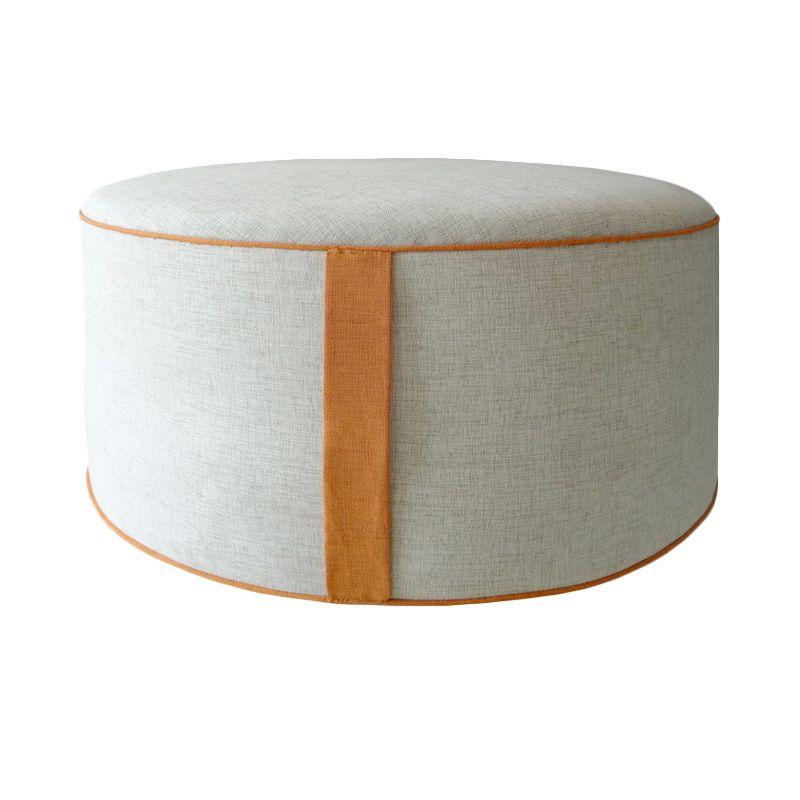 Ferniture Ambrose Putih Pouf Stool Kursi
