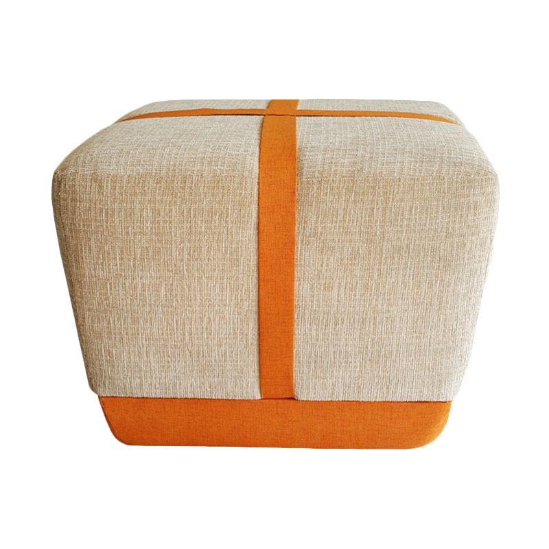 Ferniture Cross Cream Kombinasi Orange Bangku