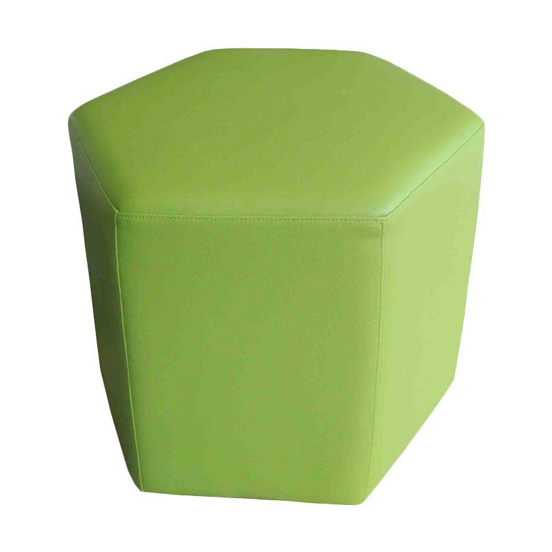 Ferniture Honey Comb Stool Jasmine Green Sofa