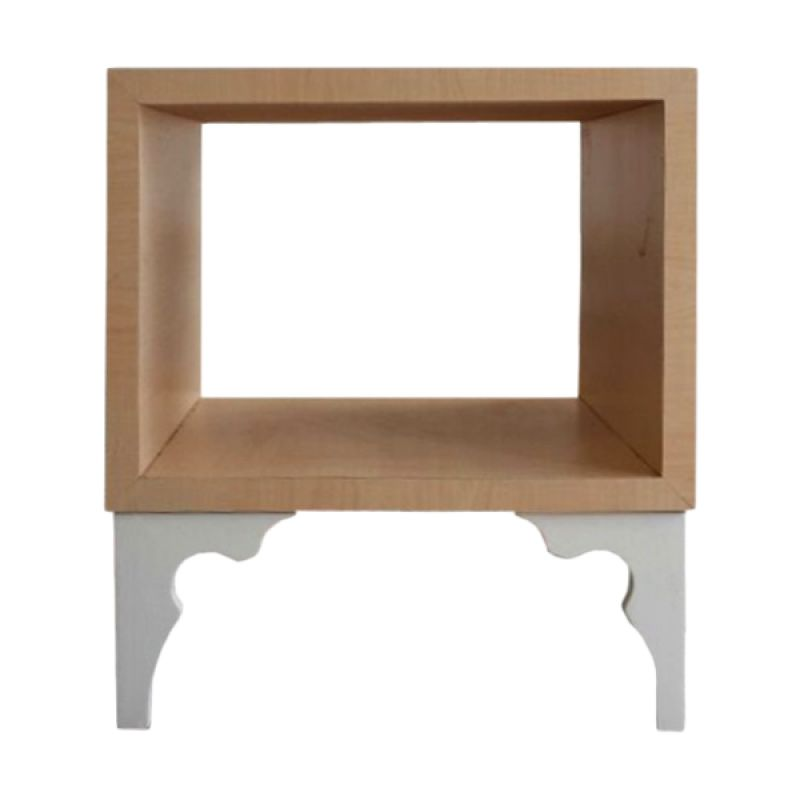 Ferniture Gardenia Cream White Side Table Meja
