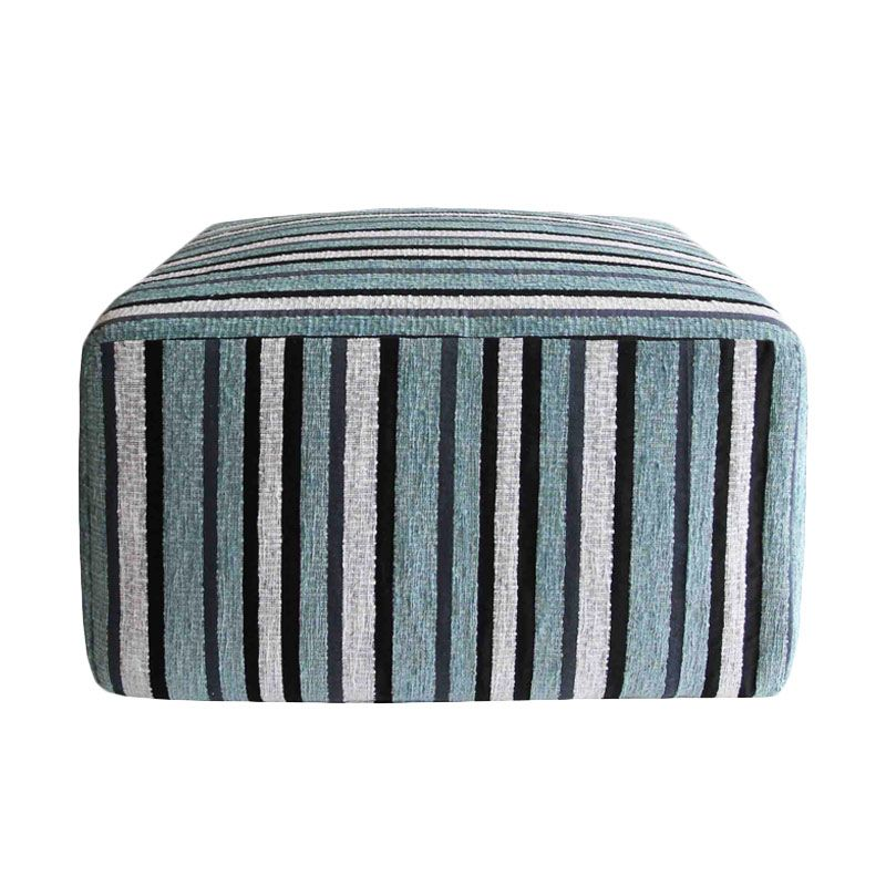 Tofu Blue Stripe Stool Bangku