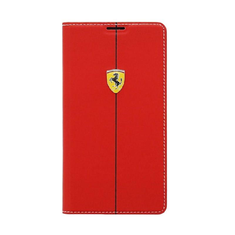 Ferrari FEFORBBS5RE Rubber Red Batery Book Cover for Samsung S5