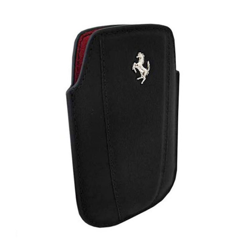 Ferrari Sleeve Modena Leather FEMOIPBL Pouch Black Casing for iPhone 4 or 4s