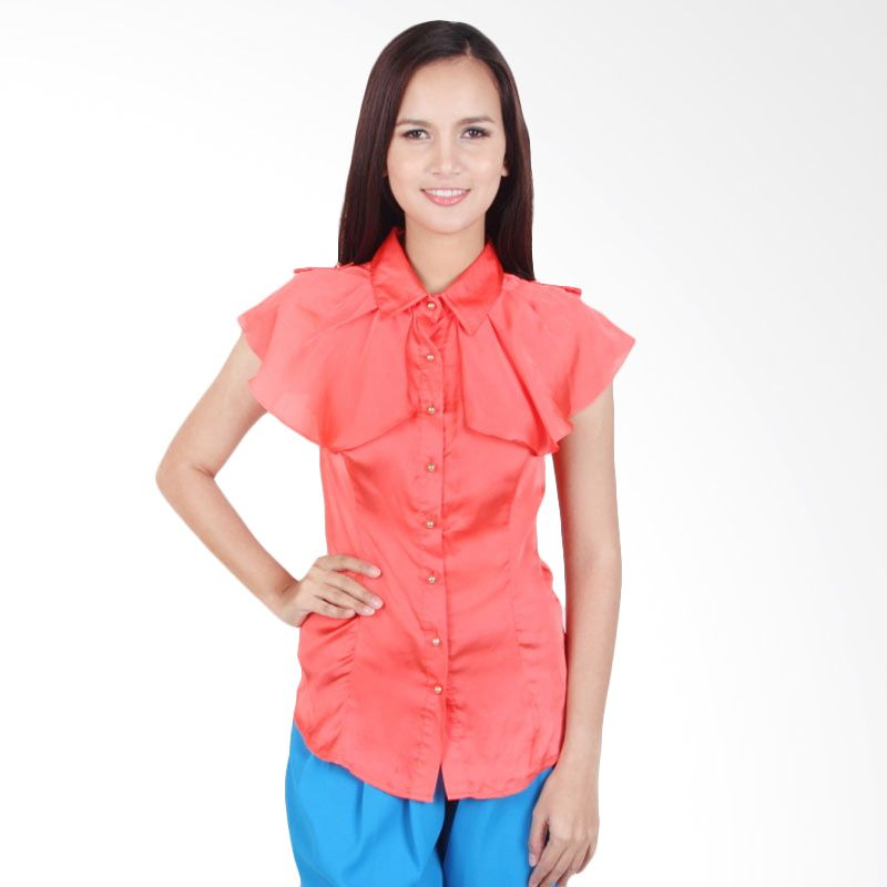 Fiorucci Blouse FRC041342 Hot Coral