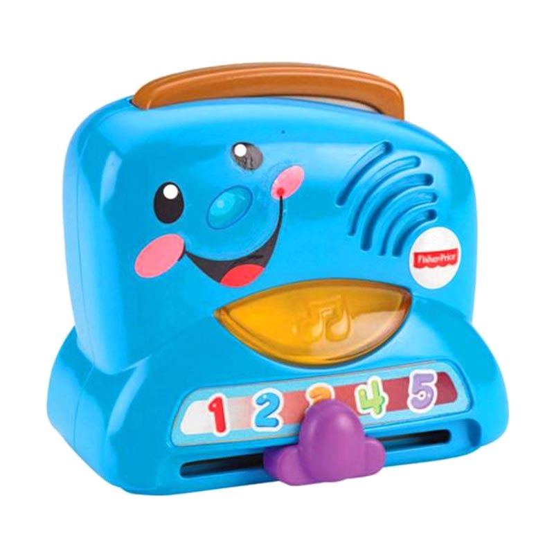 Fisher Price Laugh & Learn Peek-a-Boo Toaster Set Mainan Anak