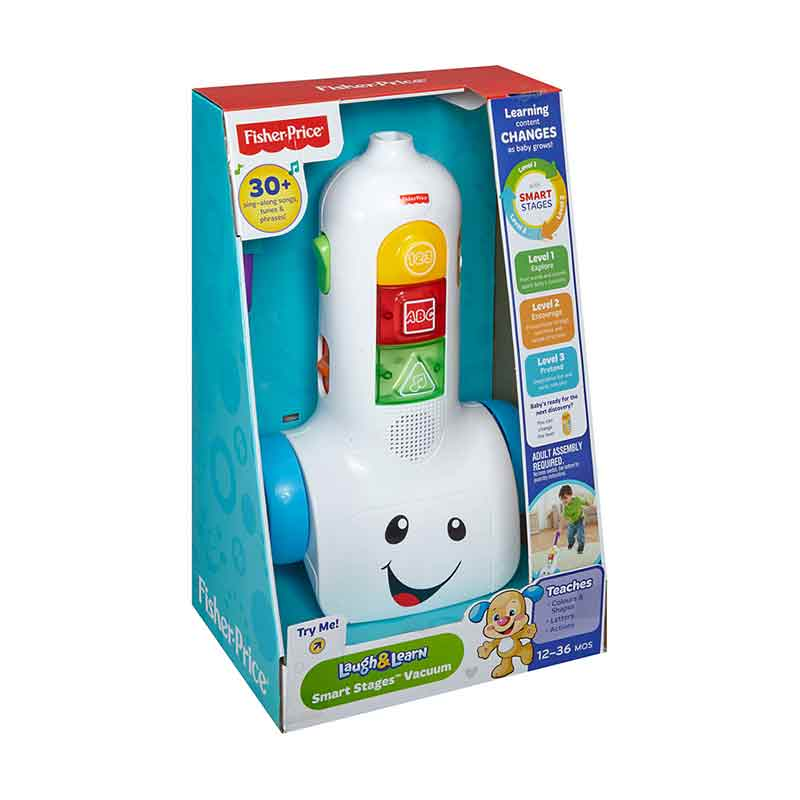 Fisher Price Laugh & Learn Smart Stages Vacuum BHC05 Mainan Anak