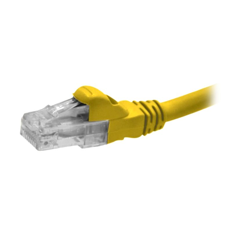 Schneider Electric DCEPCURJ01YLM Cat 5e UTP Yellow Patch Cord Kabel Jaringan Komputer [1 m/1 Pcs]