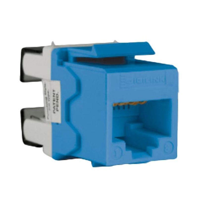 Schneider Electric DCEKYSTUBL Cat 5e UTP Blue Keystone Modular Jack Aksesoris Komputer [5 Pcs]