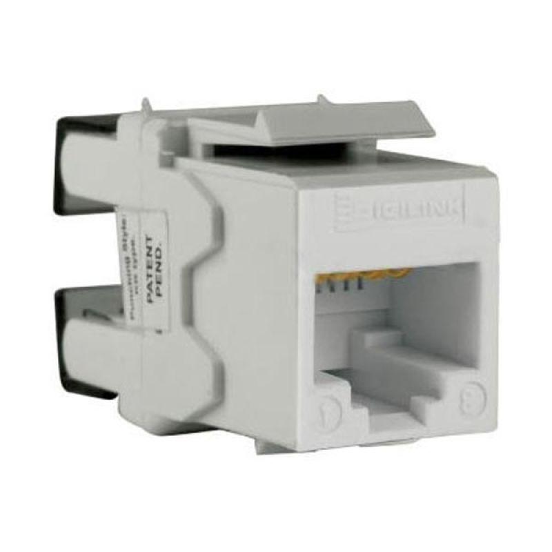 Schneider Electric DCEKYSTUWT Cat 5e UTP White Keystone Modular Jack Aksesoris Komputer [5 Pcs]