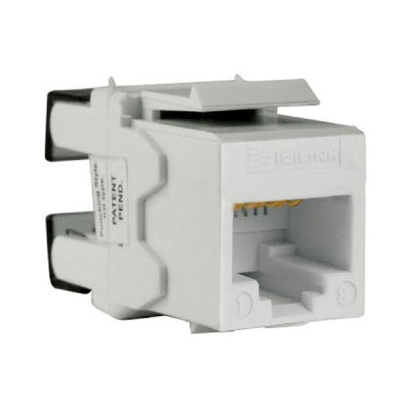Schneider Electric DC6KYSTUWT Cat 6 UTP White Keystone Modular Jack Aksesoris Komputer [5 Pcs]