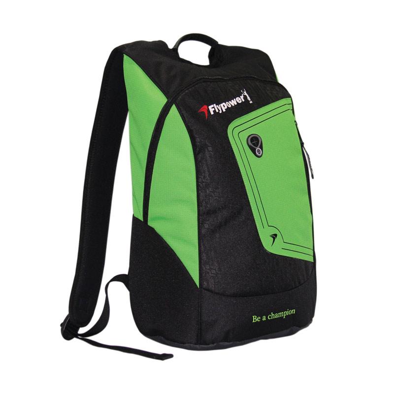 Flypower Kalimaya Backpack Tas Badminton - Black/Green
