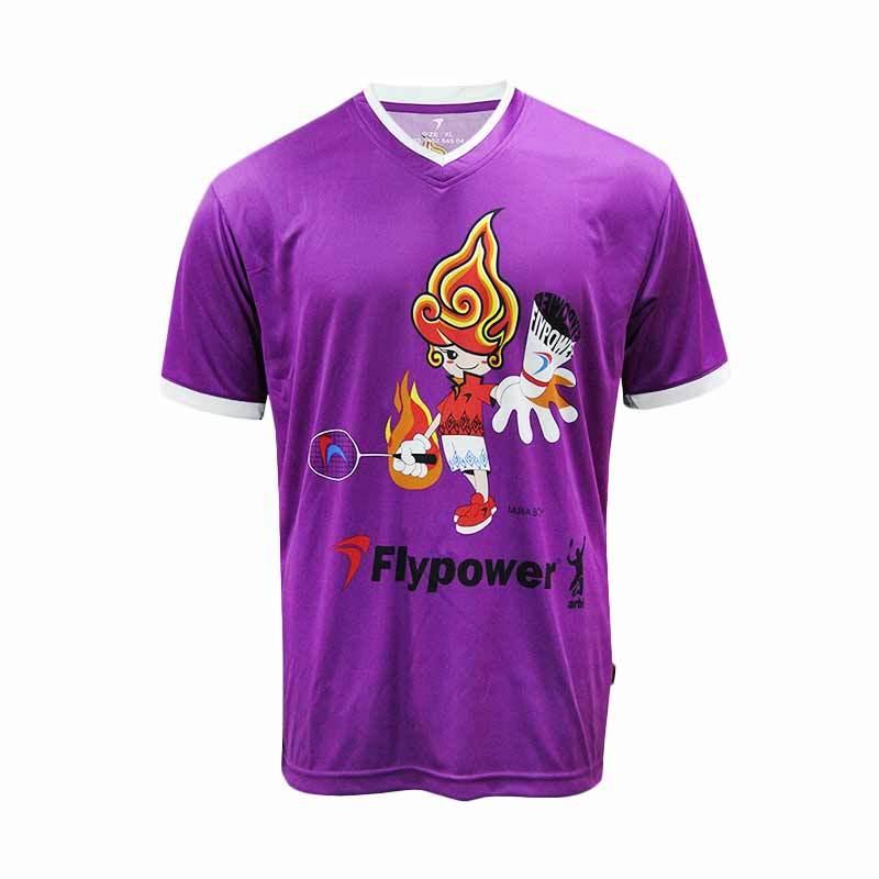 Flypower Muria Boy Purple Kaos Badminton