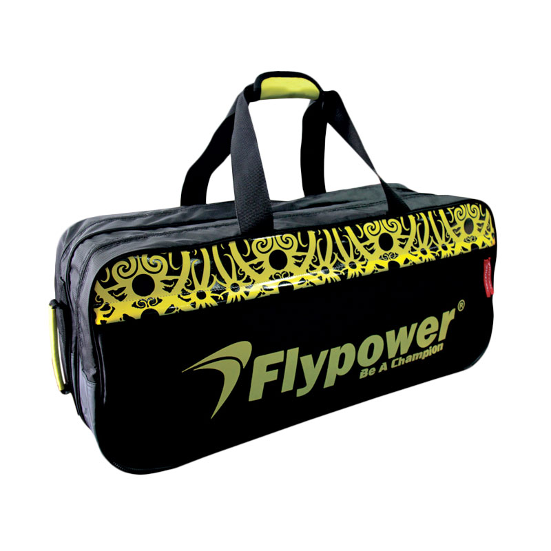 Flypower Zamrud Tas Badminton - Black Yellow
