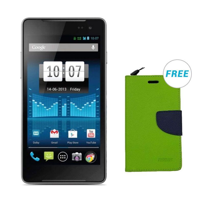 Smartfren Andromax U2 Biru Smartphone - Free Walet Mercury