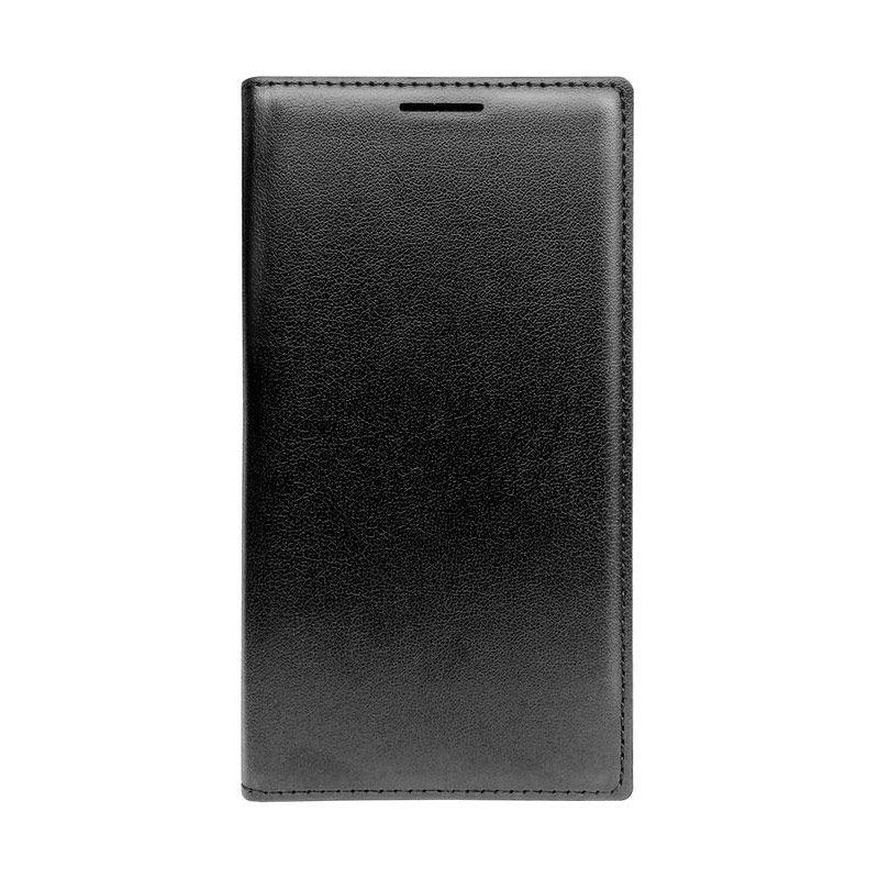 Fonel Flip Cover Hitam Casing for Galaxy A3