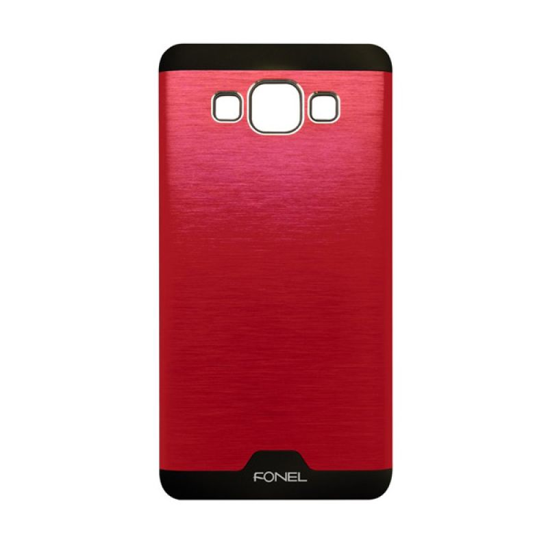 Fonel Back Cover Merah Casing for Galaxy A3