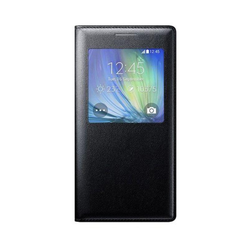 Fonel Flip Cover Hitam Casing for Samsung Galaxy A5