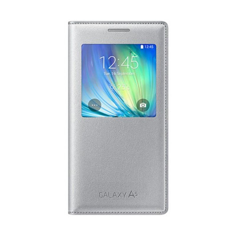 harga Samsung S View Cover Casing for Galaxy A5 A500 2015 - Silver Blibli.com