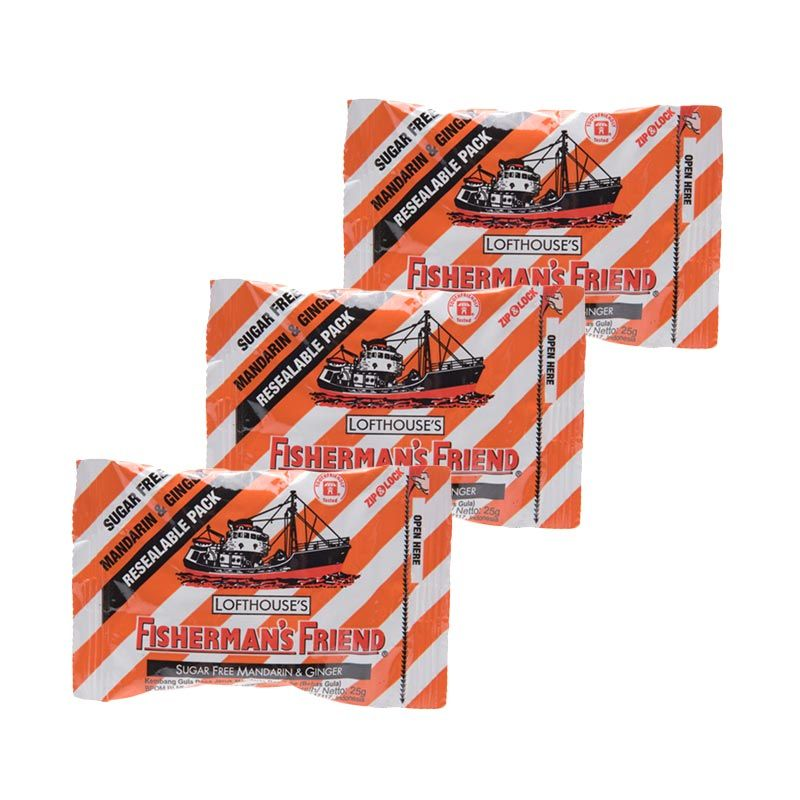 Fisherman'S Friend Mandarin Ginger Stripe Permen [3 packs]