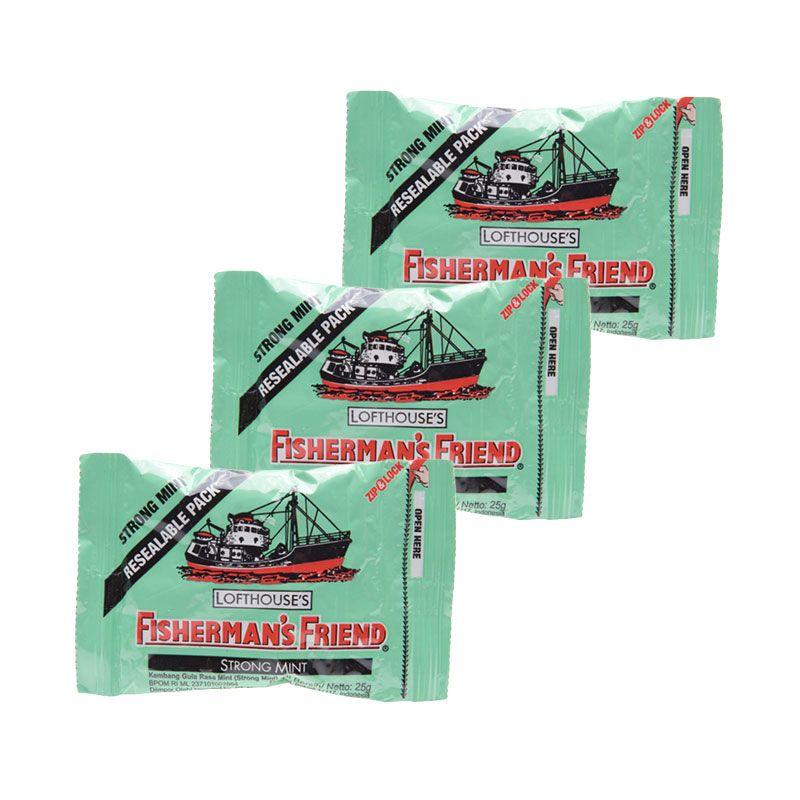 Fisherman'S Friend Strong Mint Permen [3 packs]