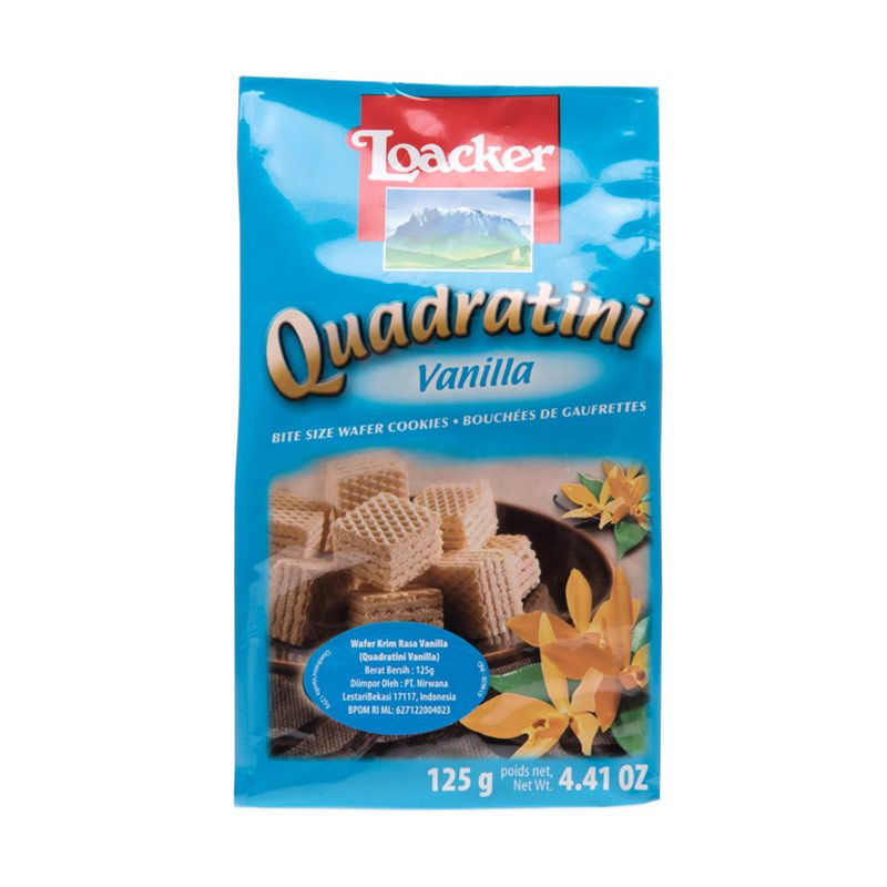 Loacker Quadratini Vanila Biskuit Wafer