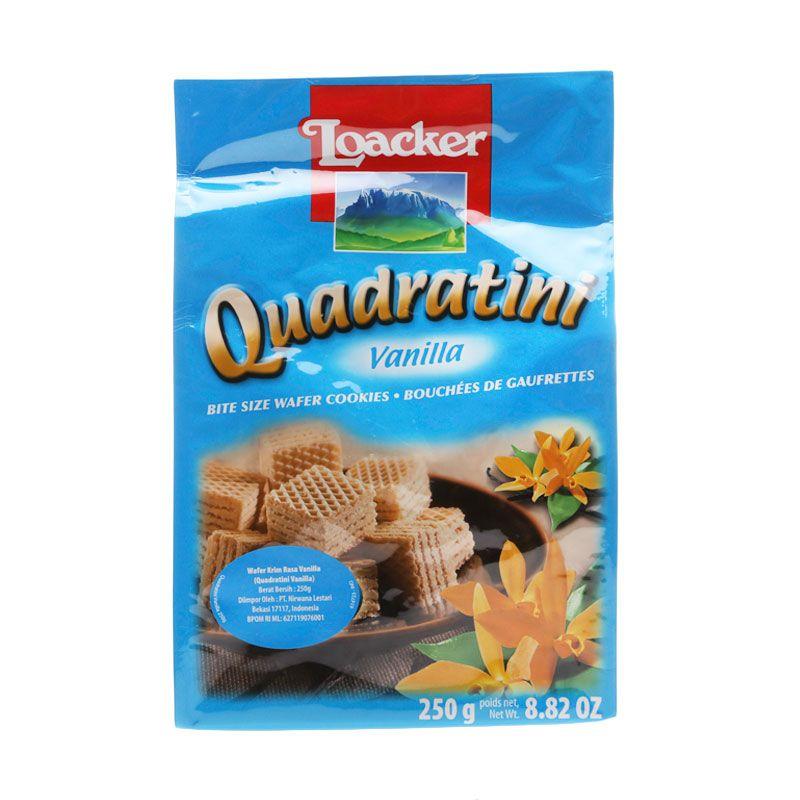 Loacker Quadratini Vanilla Lk2500D Biskuit Wafer [250 g]