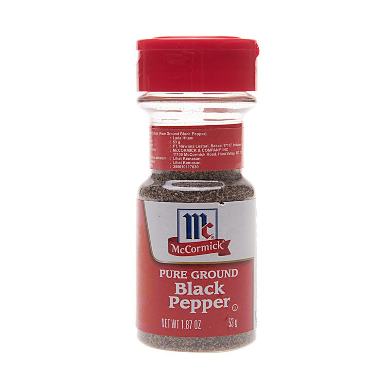 McCormick Black Pepper Pure Ground Bumbu Masak