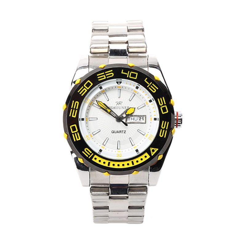 Fortuner FR K1010 G Putih Kuning Jam Tangan Pria
