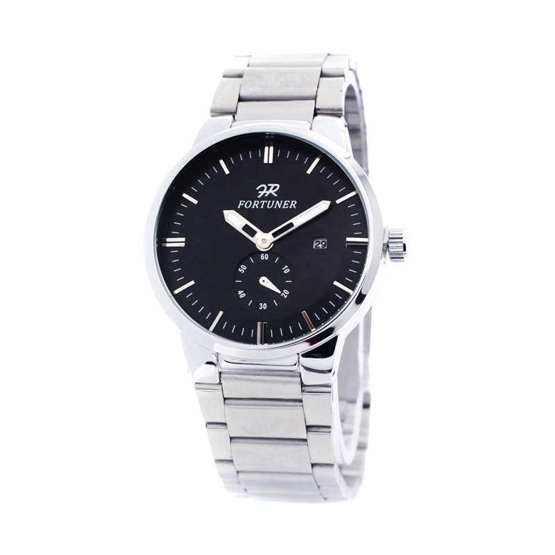 Fortuner S30015 Hitam Jam Tangan Pria - White Black