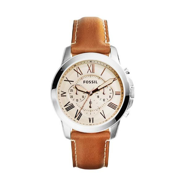 Jual FOSSIL Grant Chronograph Leather FS5118 Jam Tangan