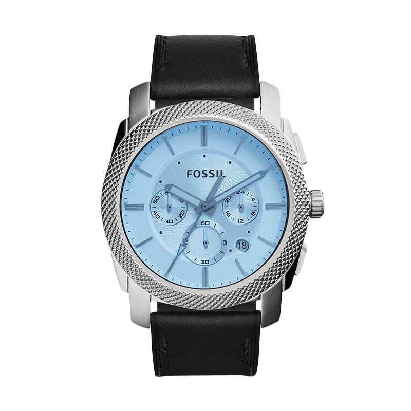 Fossil Machine Blue Crystal Chronograph FS5160 Jam Tangan Pria - Silver