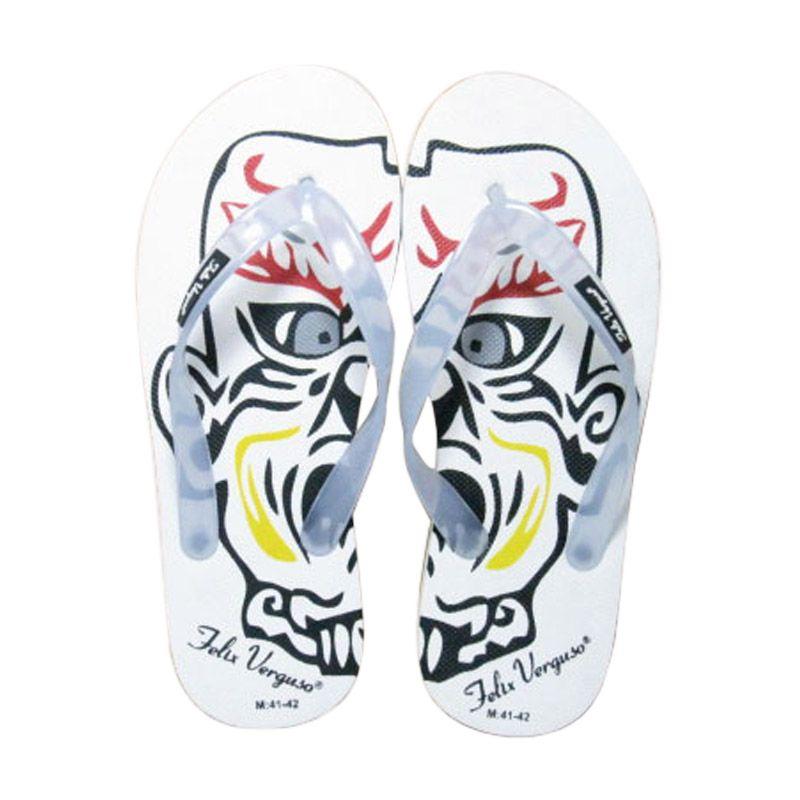Felix Verguso Mask White Sandal Jepit Pria