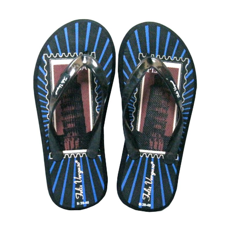 Felix Verguso Pisa Black Sandal Jepit Pria
