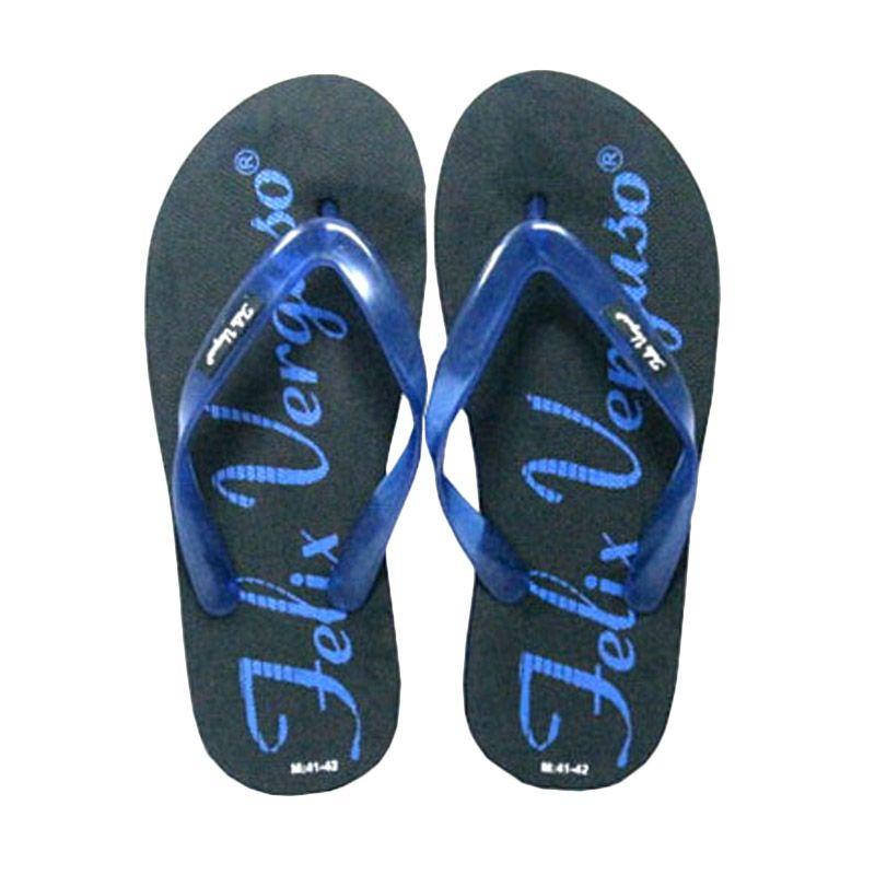 Felix Verguso Rich Black Blue Sandal Jepit Pria